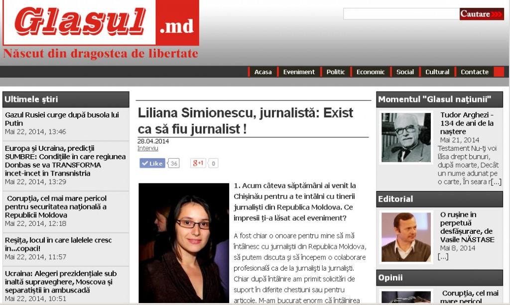 glasul.md Liliana Simionescu, jurnalistă Exist ca să fiu jurnalist ! - Mozilla Firefox 22.05.2014 143714